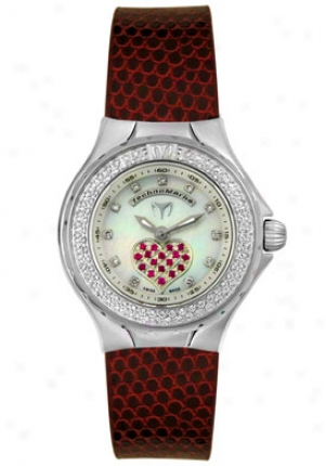 Technomarine Discontinued Women's Technolady Diamond-rubi Dtlsvr