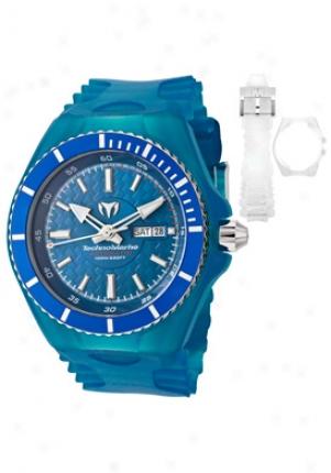 Technomarine Men's Cruise Magnum Blue Dial Blue Transparent Rubber 109002