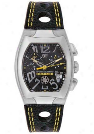 Technomarine Men's Hummer Chronograph Black Leather Tscmh02