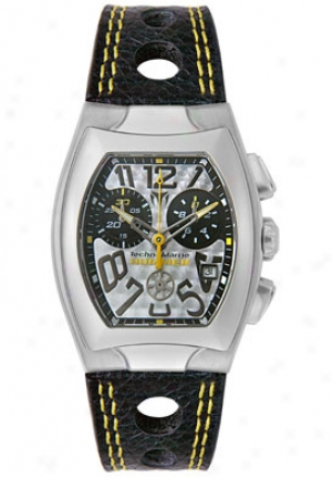 Technomarine Men's Hummer Chronograph Black Leather Tscmh05
