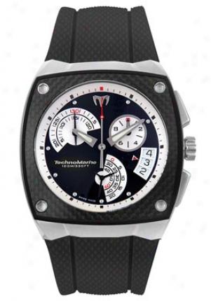 Technomarine Meb's Kra Chronograph Black Rubber Black Dial Krw02