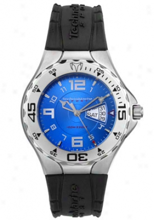 Technomarine Men's Tm Day-date Black Rubber Tmd01