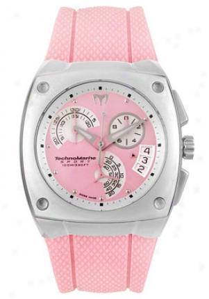 Technomarine Women's Kra Chronograph Pink Rubber Pink Dial Kra07