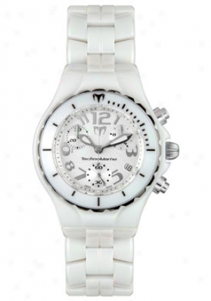 Technomarine Women 's Techno Chrono Ceramique White Ceramic Chronograph Tc05c