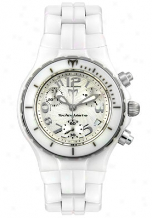 Technomarine Women&'s Techno Lady Chronograph White High Tech Ceramoc Tlcc05c