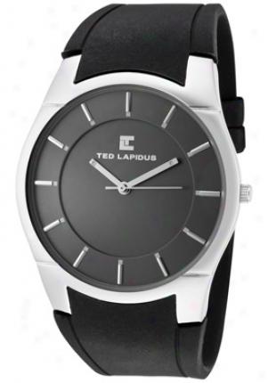 Ted Lapidus Men's Grey Dial Black Ribber 5117401