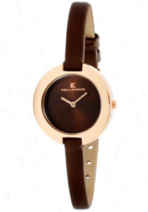 Ted Lapidus Women's Brown Dial Brown Leather A0436umnm