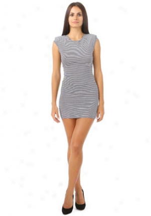 The Reformation Black & White Striped Dress Dr-frx0053ik-st-p