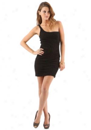 TornB lack One Shoulder Dress Dr-in527846bru-black-l