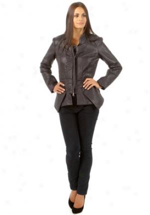 Torn Black Quilted Jacket Ja-20701selma-blk-s
