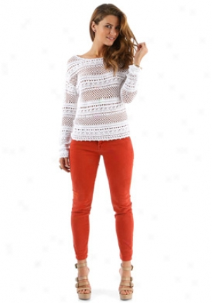 Torn Wuite Knitted Top Wtp-int32820mac-white-m