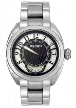 Triumpn Motorcycles Men's Stainless Steel Silber Dial 3035-33