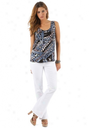 Tucker Multicolor Silk Top Wtp-tds211-mulblk-l