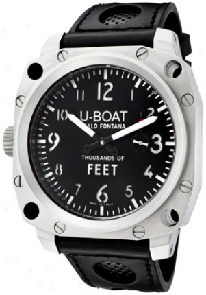 U-boat Men's Stainless Harden Wicked Dial White Index 1454