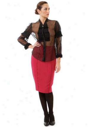 Valentino Black Transparent Silk Cap Wtp-4b3802a-blk-10