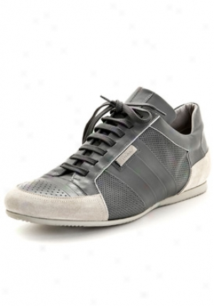 Valentino Grey Leather Sneakers 4ys00523-avm-g39