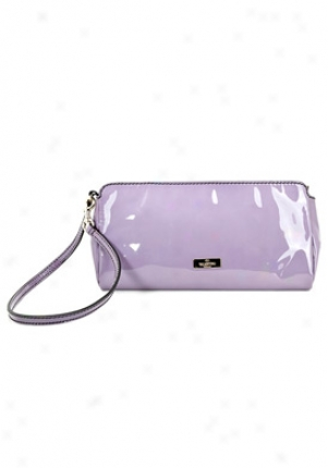 Valentino Lilac Patent Leather Clutch 5wb003865-avn-iris