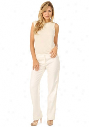 Valentino Off Of a ~ color Straight Leg Linen Pants Wbt-co659c510-ow46