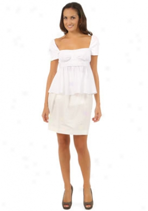 Valentino White Short Sleeve Top Wtp-bc804a0mc0-wh8