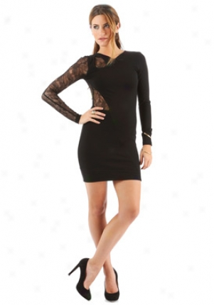Versus Murky Long Sleeve Jersey Dress Dr-ed2tab434-blk-38