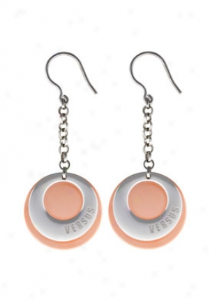 Versus Charms None 1 Ion Plated Rose Gold Tone And Silver Tone Drop Earrings Vcx2199a060000000
