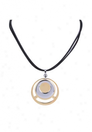 Versus Charms No 5 Ion Plated Gold Tone And Silver Tone Black Dual String Necklace Vcx4099a0700000