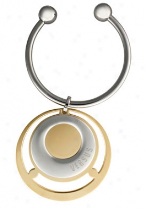Versus Charms No 5 Ion Plated Gold Tone And Gentle Tone Key Ring Vaxk299a0000000