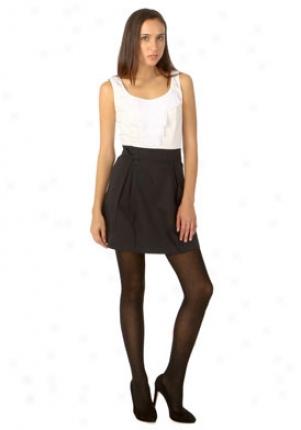 Vertigo Black And White Sleeveless Dress Vt35195-bkwh-s