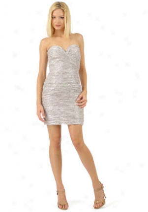 Vicky Tiel Silver Ruched Cocktail Dress Dr-vt10023g-sil-14