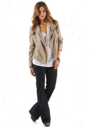 Vince Light Brown Leather Jacket Ja-v011790240-sand-l