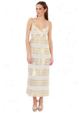 What Goes Around Comes Around Cream & Gold Maui Dress Dr1-06003m