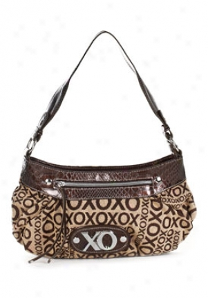 Xoxo Stepping Out Brown Logo Printed Shoulder Bag 54640-chbn