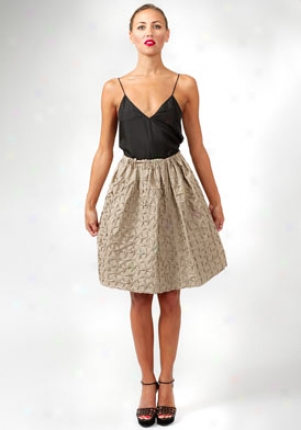 Yves Saint Laurent Beige Undulating Pattern Skirt Wbt-215049-yeh40-oro-42