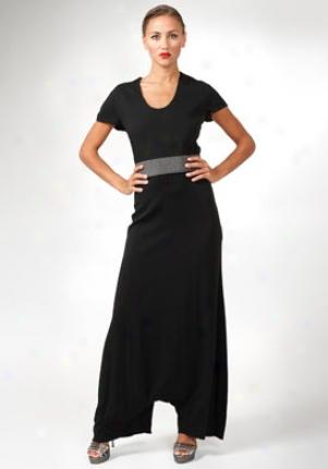 Yves Saint Laurent Black Harem Style Jumpsuit On-227212-yga31-blk-42