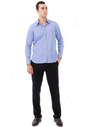 Yves Saint Laurent Blue Striped Button Down Shirt Mtp-211620-yeh09-bia-a42