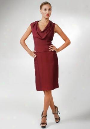 Yves Saint Laurent Burgundy Sleeveless Dress Dr-221218-yfa01-burg-42