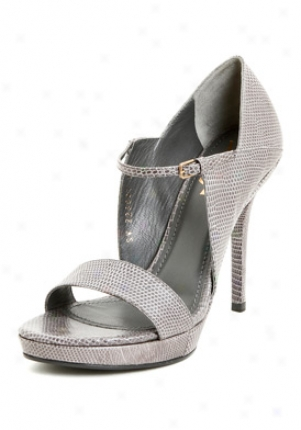 Yves Saint Laurent Fatale 95 Grey Lizard Print Leather Pumps 226007-es200-flan-39