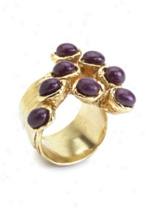 Yves Saint Laurent Magenta Arty Dots Enamel Ring Y164q-8035-magen-7
