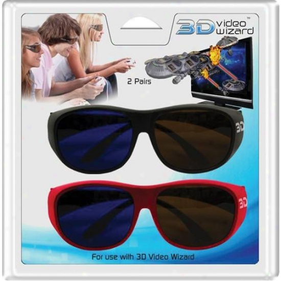 3d Video Wizard Adult Size 3d Glasses