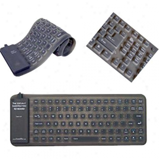 Adesso Akb-210 Foldable Silicone Waterproof Usb Mini Keyboard
