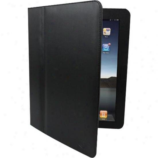 Adesso Genuine Leather Case For Ipad &ajp; Ipad 2 - Blacm - Acs-110gb