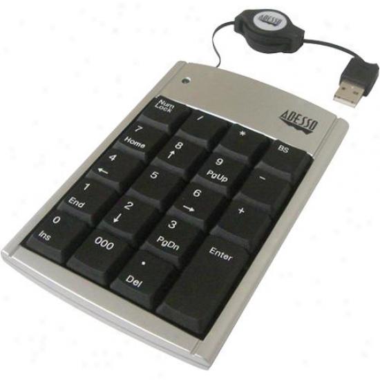 Adesso Usb Numeric Keypad Slvr/blk
