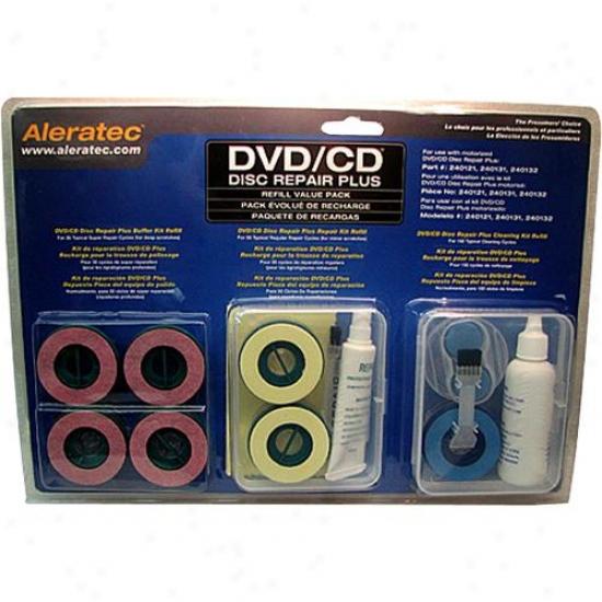 Aleratec Dvd/cd Disc Repair Plus Refil1 Pack