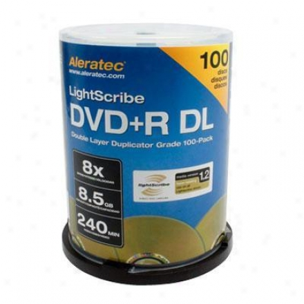 Aleratec Dvd+r Double Layer 8x Lightscribe Duplicator Grade 100-pack