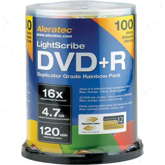 Aleratec Dvd+r Lightscribe Rianbow V1.2 100-pack