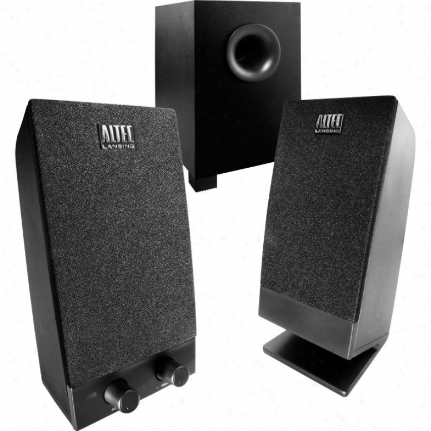Altec Lansing Bxr1321 2.1 Multimedia Speakers W/ Subwoofer - Black