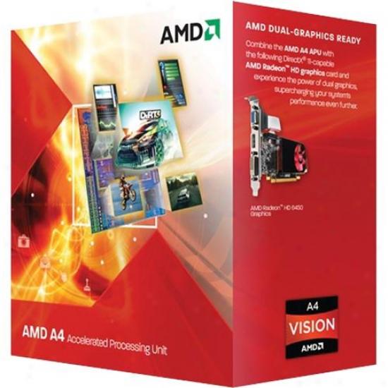 Amd A4 Series A4-3300 2.5gnz Fm1 Dual-core Apu Desktop Processor - Ad3300ojgxbox