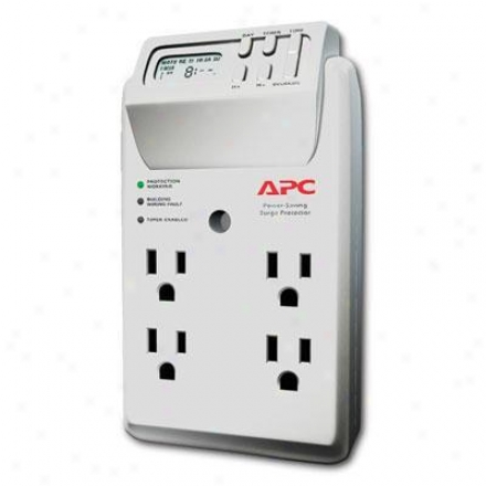 Apc 4-outlet Wall Tap 120v Power-saving Timer Essential Surgearrest