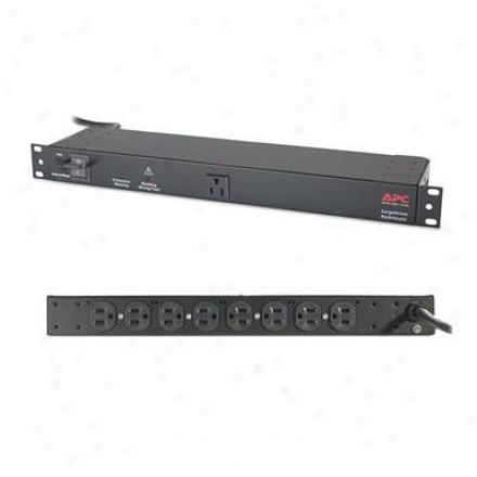 Apc 9-outlet Rackmuont Surgearrest 120v - Black - Net9rmblk