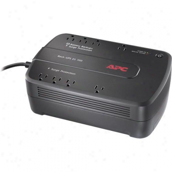 Apc Back-ups Es 8-outlet 550va 120v Surge Protector And Power Supply